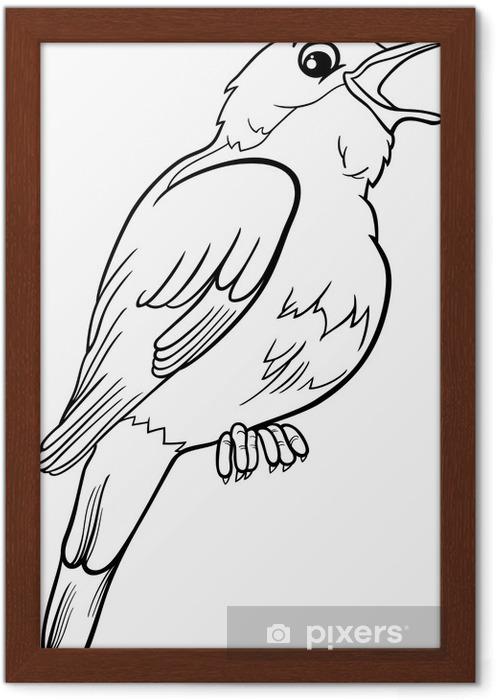 Bülbül Kuş Boyama çerçeveli Poster Pixers Haydi Dünyanızı