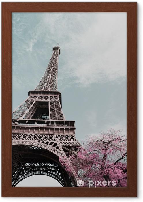 Plakat w ramie Wieża Eiffla - Podróże