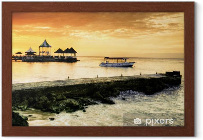 Póster Enmarcado Caribbean Sunset - Temas