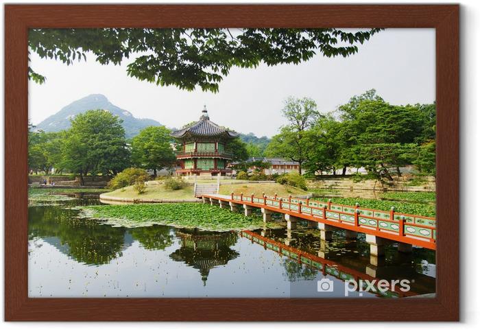 Póster Enmarcado Palacio del emperador en Seul - Seúl