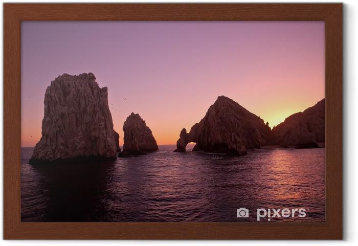 Póster Enmarcado El Arco y Finisterra en Sunset, Cabo San Lucas, México - América
