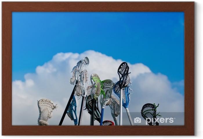 Poster en cadre Bâtons de crosse dans le ciel - Sports collectifs