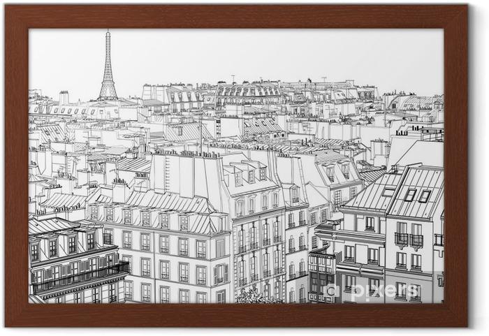 Plakat w ramie Dachy w Paryżu - Style