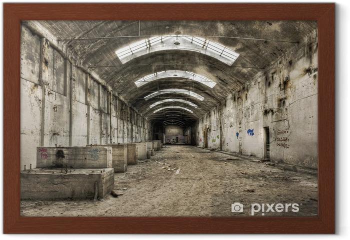 Ingelijste Poster Verlaten oude industrieel gebouw - Stijlen