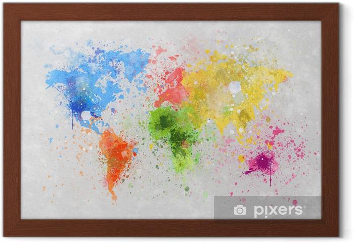 Plakat w ramie Obraz mapa świata -