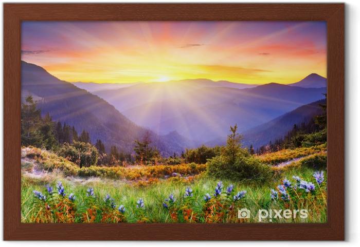 Plakat w ramie Górski krajobraz - Tematy