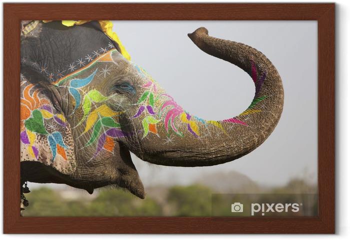 Plakat w ramie Słoń na festiwalu słonia w Jaipur - Azja