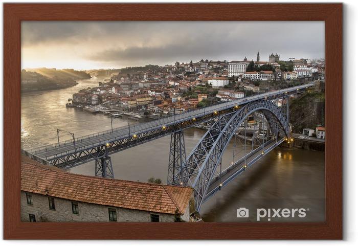 Plakat w ramie Ville de Porto Portugalia - Europa