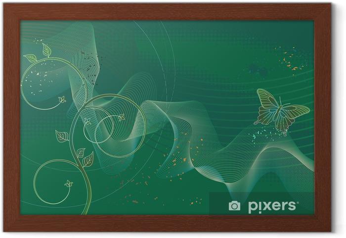 Masaüstü Duvar Kağıdı Kelebek Arka Plan çerçeveli Poster Pixers