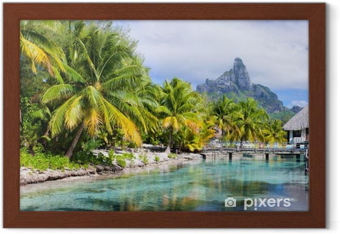 Plakat w ramie Bora Bora panorama - Tematy