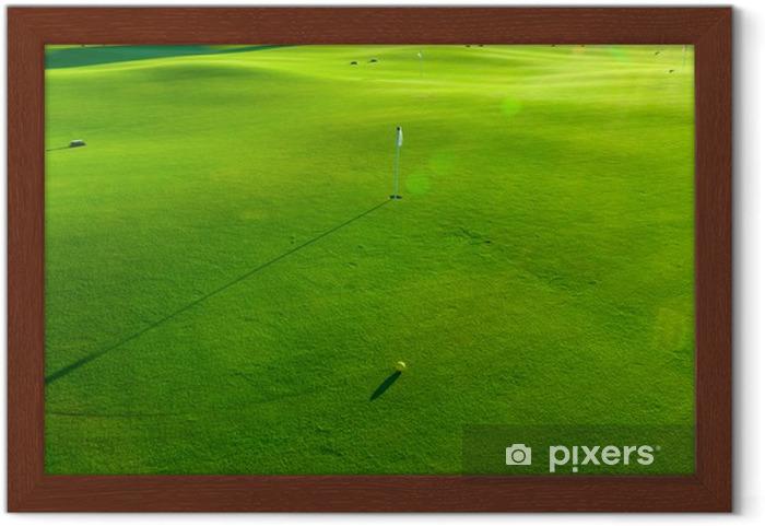 Póster Enmarcado Agujeros y bunkers en el campo de golf - Golf