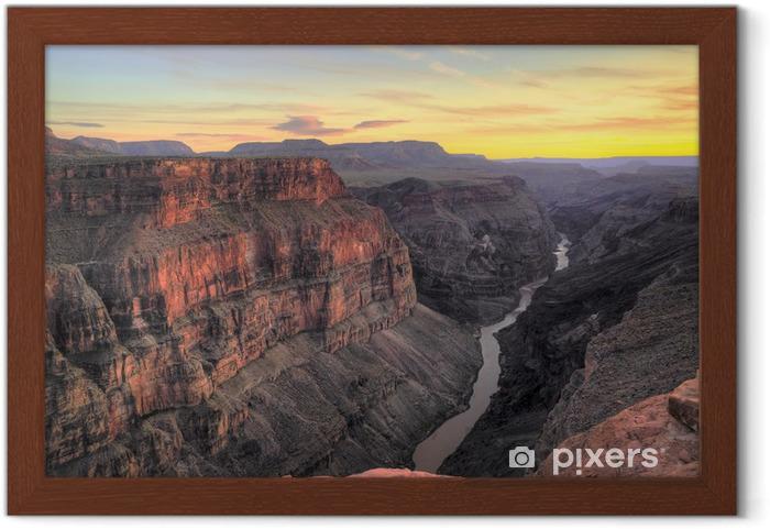 Poster en cadre HDR, Toroweap Sunset Point, le parc national du Grand Canyon - Désert