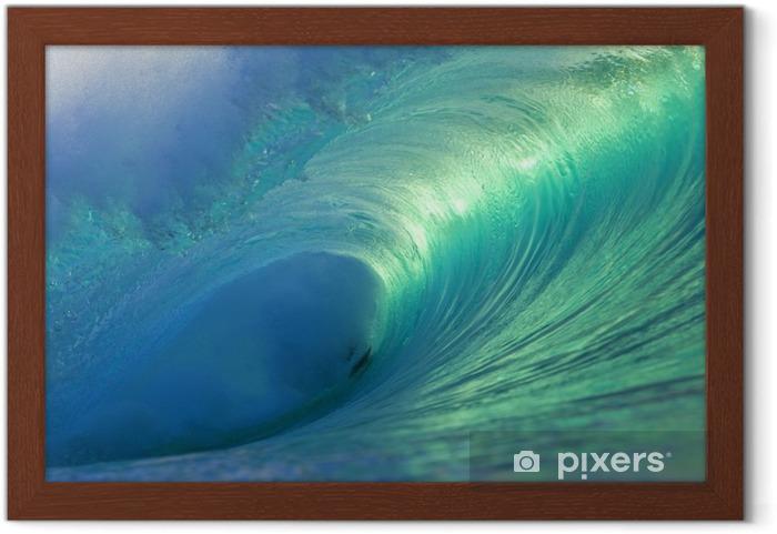 Póster Enmarcado Hawaii Ola barril vacío 4 - Mar y océano