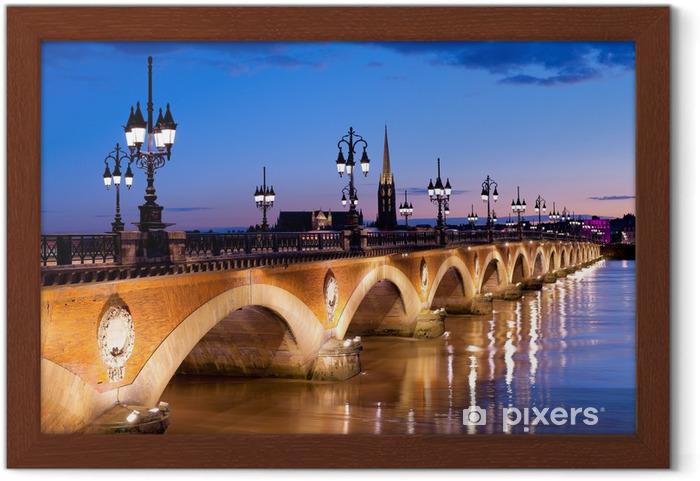 Gerahmtes Poster Der Pont de Pierre in Bordeaux - Themen