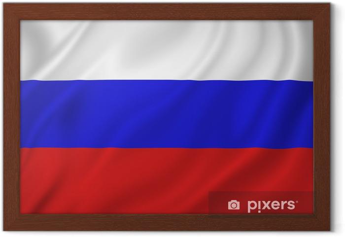 Rusya Bayrağı çerçeveli Poster Pixers Haydi Dünyanızı Değiştirelim