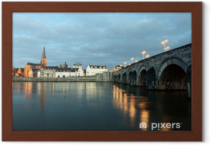 Den nederlandske Maastricht St. Servatius Bridge Indrammet plakat - Europæiske Byer