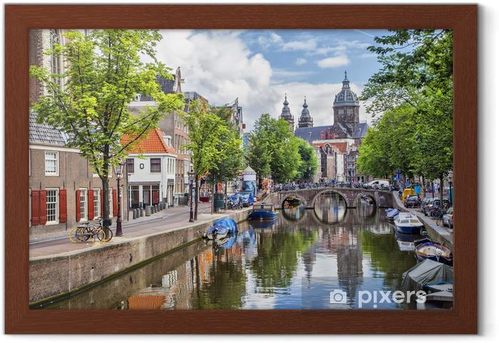Plakat w ramie Canal i St Mikołaja w Amsterdamie - Tematy