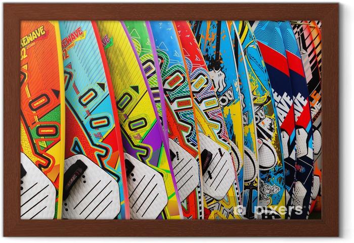 Ingelijste Poster Surfbretter - Watersporten