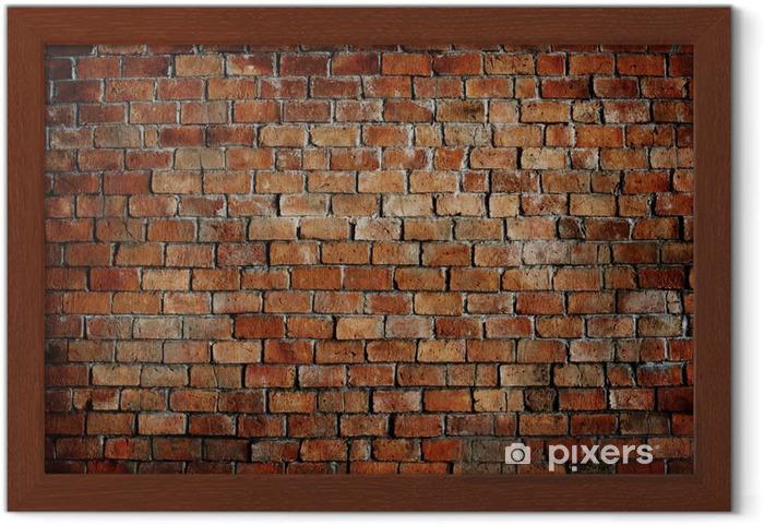 Plakát v rámu Classic Beautiful texturou Cihlová zeď - Témata