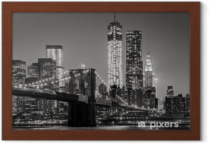 Plakat w ramie Nowy Jork nocą -