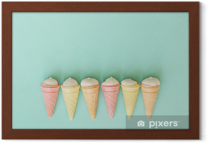 Poster en cadre Vintage background avec des cornes de crème. - Ressources graphiques