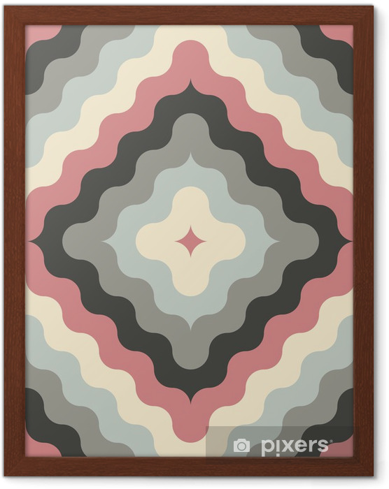 abstract retro geometric pattern Framed Poster - Themes