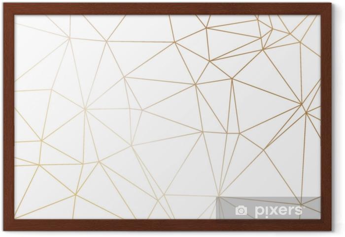 Gerahmtes Poster Gold Polygonale Textur Vektor Cover Design Für Hochzeit Invintation Plakate Banner Flyer Präsentationen Und Visitenkarten