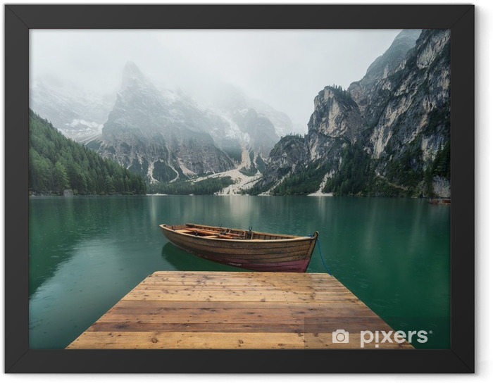Beautiful natural landscape in the Italian mountains Framed Poster - Landscapes