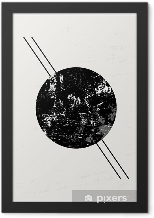 Abstract Geometric Composition Framed Poster - Graphic Resources
