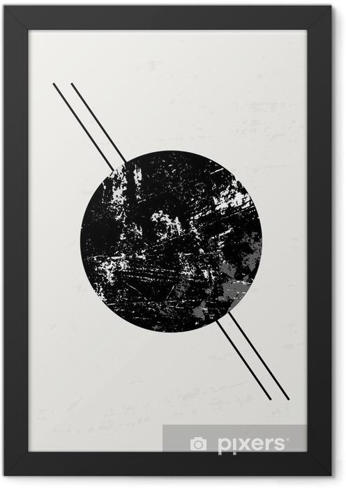 Ingelijste Poster Abstracte Geometrische compositie. - Grafische Bronnen