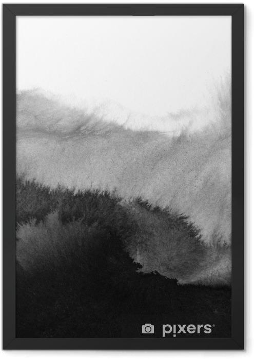 hi-res watercolor background Framed Poster - Landscapes