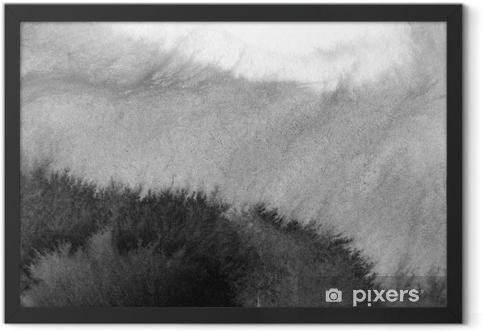 Gerahmtes Poster Hochauflösender Aquarellhintergrund - Landschaften