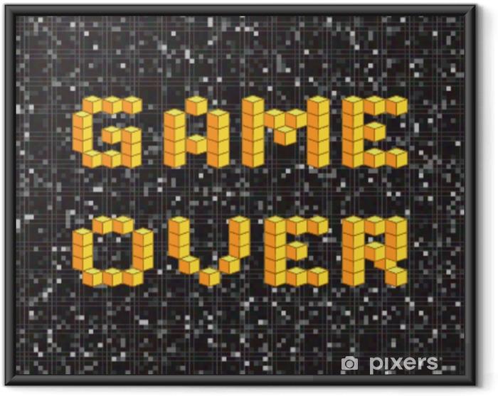 Plakat w ramie Gra na ekranie, old school plakat do gry, koncepcja awarii - Hobby i rozrywka