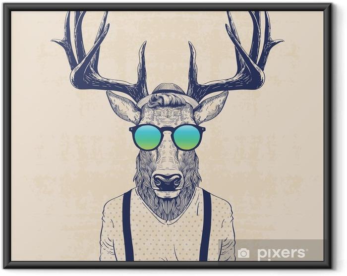Çerçeveli Poster Serin geyik - Hayvanlar