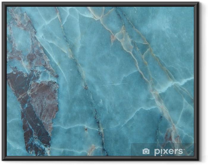 Ingelijste Poster Marmer natuurlijke textuur - Grafische Bronnen