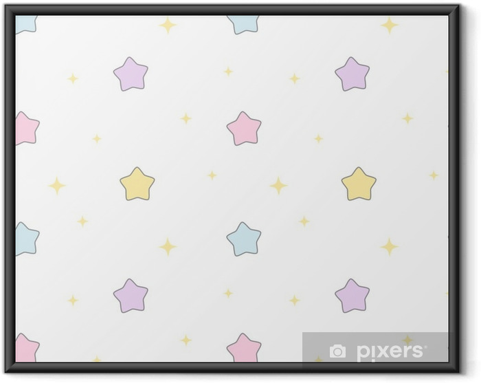 Poster en cadre Étoiles colorées de dessin animé mignon - Ressources graphiques