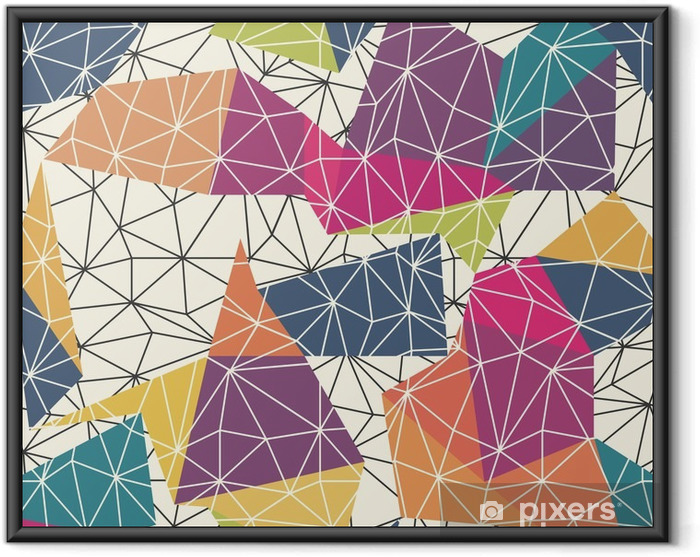 Wireframe Abstract Surface Seamless Pattern Framed Poster - Graphic Resources