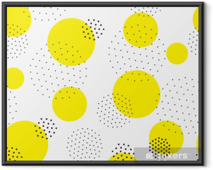 Póster Enmarcado Patrón geométrico sin costura - Recursos gráficos