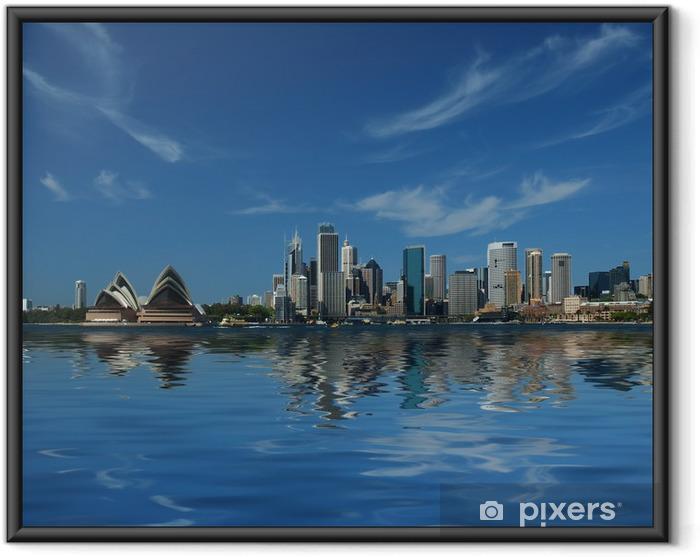 Ingelijste Poster Sydney stad reflecties - Thema's