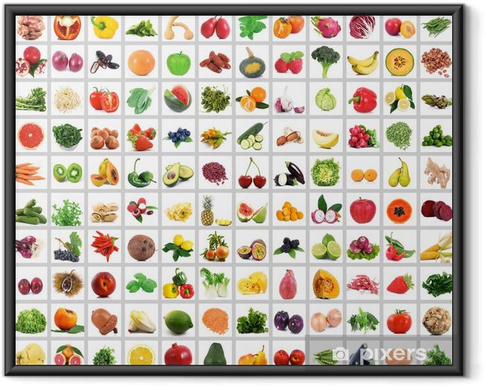 Poster in Cornice Verdura e frutta piena collage - Pasti