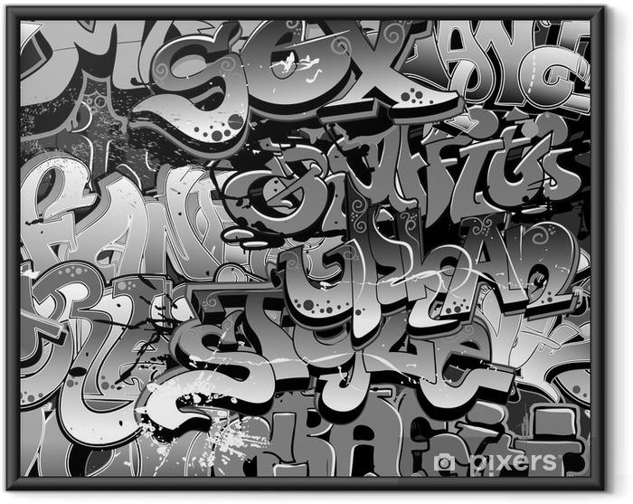 Çerçeveli Poster Graffiti seamless background. Kentsel Sanat doku -
