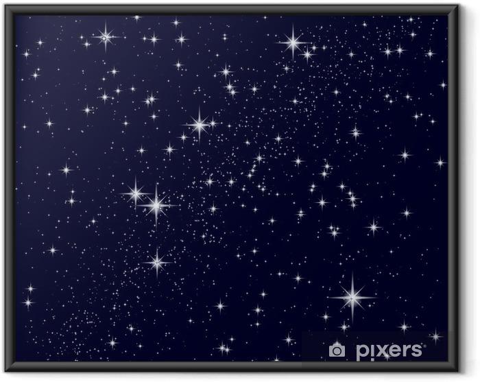 Póster Enmarcado Ilustración vectorial de un cielo estrellado - Universo