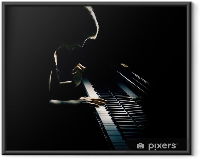 Plakat w ramie Gra na fortepianie koncert pianisty. Muzyka klasyczna - Fortepian