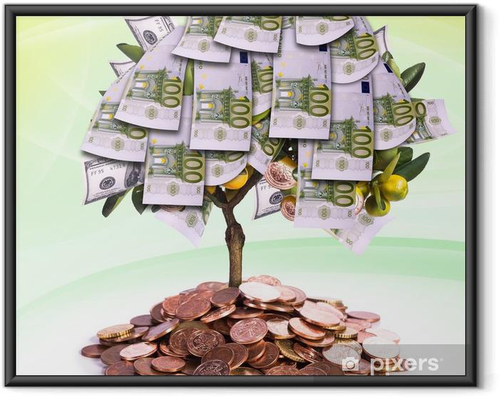 Ingelijste Poster Geldboom - Financiën