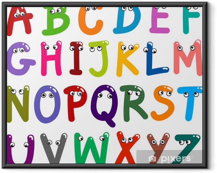 Plakat w ramie Alfabet litery śmieszne - Tematy