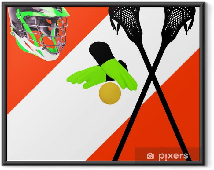 Innrammet plakat Tilbehør til lacrosse - Lagidrett