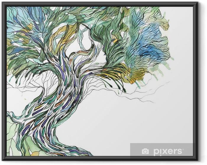 Póster Enmarcado Viejo árbol - la ciencia y la naturaleza