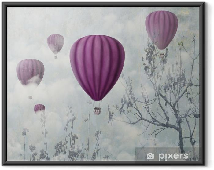 Ingelijste Poster Pink Balloons - iStaging