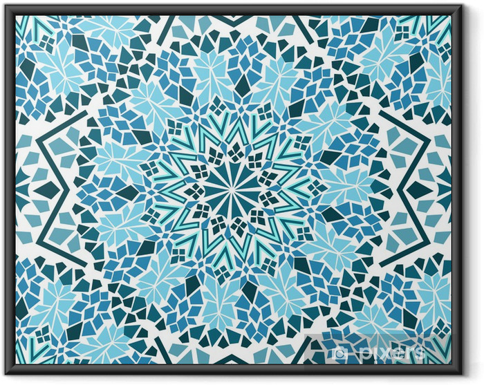 Póster Enmarcado Seamless patrón de mosaico marroquí - Mosaico