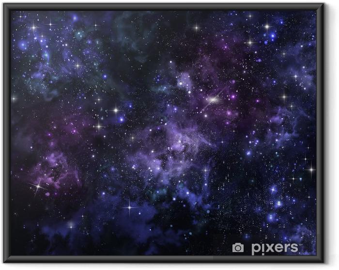Stjerneklar himmel i det åbne rum Indrammet plakat -